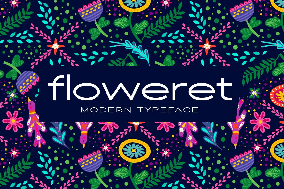 Floweret Typeface - Floweret Preview 1 -