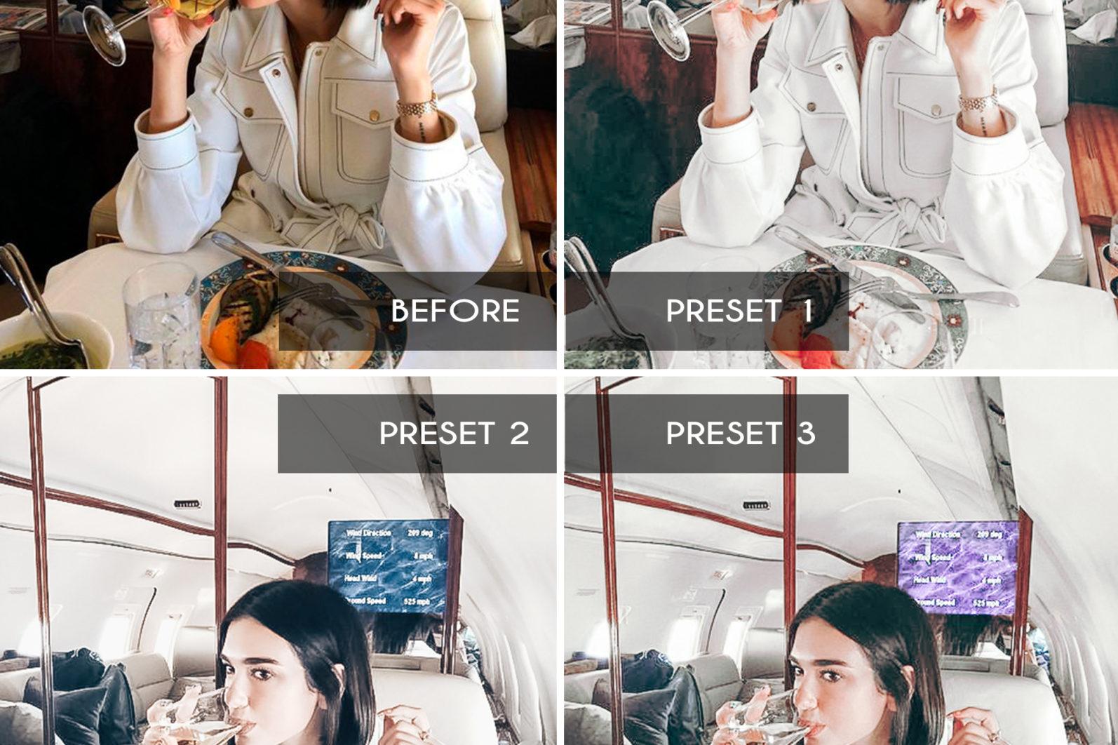 BEST SELLER ⭐️ 7 Mobile & Desktop Lightroom Presets WHITE Instagram Filter - white mobile lightroom presets page4 scaled -