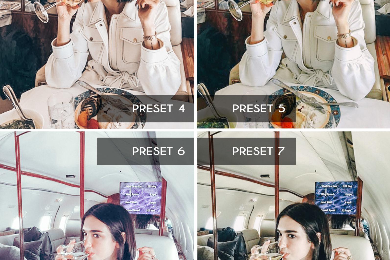 BEST SELLER ⭐️ 7 Mobile & Desktop Lightroom Presets WHITE Instagram Filter - white mobile lightroom presets page5 scaled -