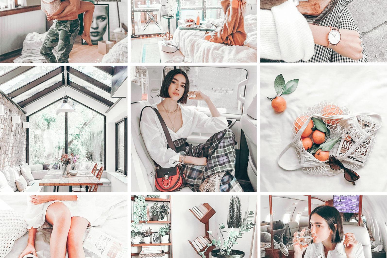 BEST SELLER ⭐️ 7 Mobile & Desktop Lightroom Presets WHITE Instagram Filter - white mobile lightroom presets page1 -