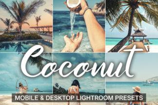 $1 Lightroom Preset Deals - Coconut presets cover product mobile desktop -