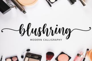 $1 Font Deals - blushring1 -