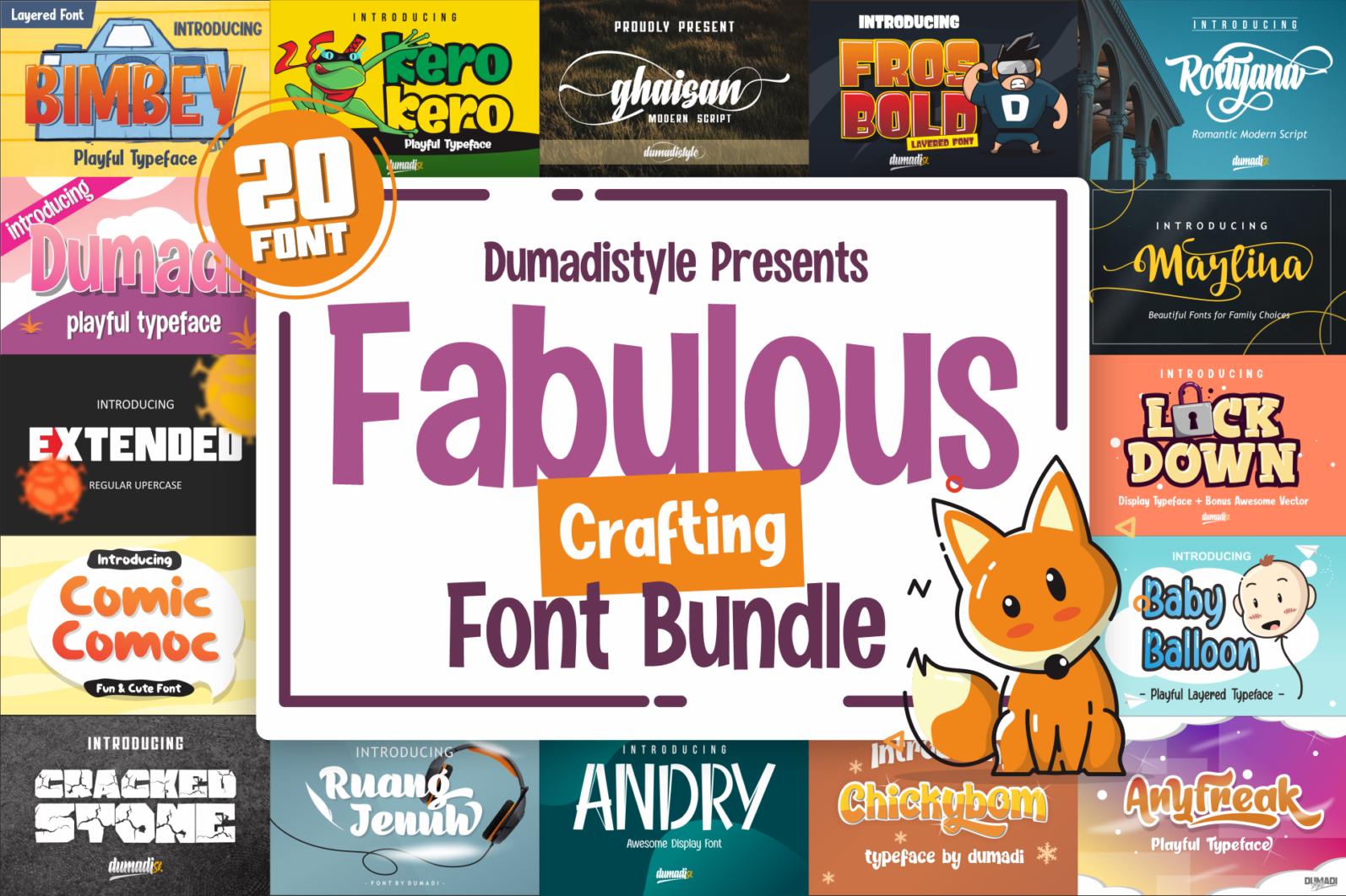 Fabulous Crafting Font Bundle - bundels -
