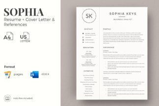 Word Resume Template Cover Letter Creative Resume Cv With