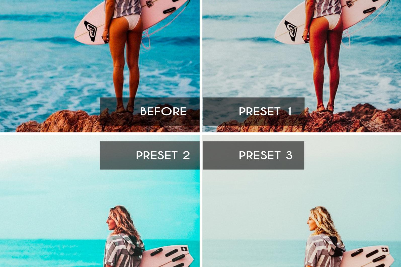 7 Mobile & Desktop Lightroom Presets INFLUENCER - influencer mobile lightroom presets page4 scaled -