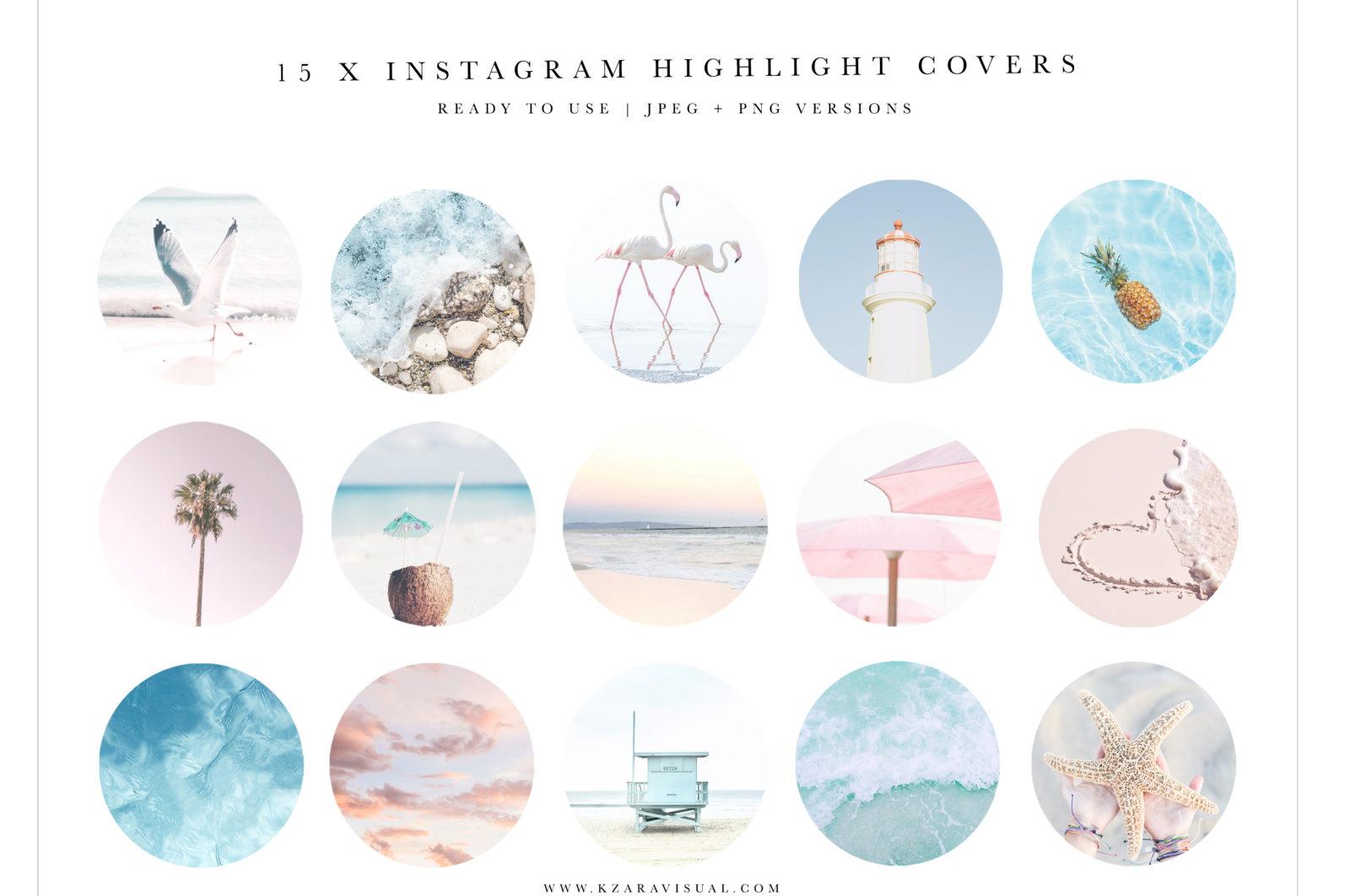 Instagram Highlight Covers #13, Coastal Instagram icons, Beach Highlights, Summer Instagram - Coastal 13 scaled -
