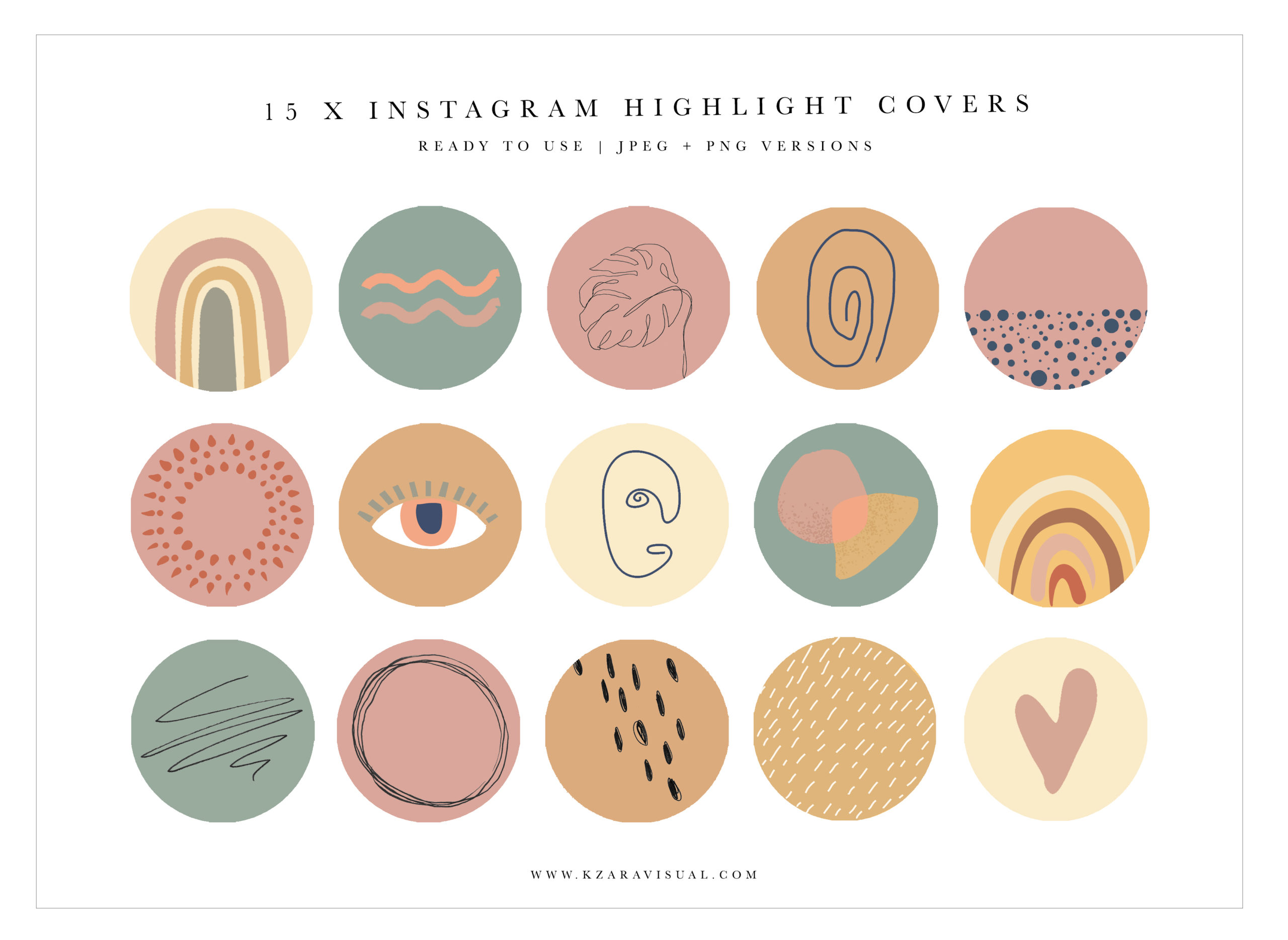 Instagram Highlight Covers 38 Boho Instagram Icons Pastel Colors Highlights Covers Crella