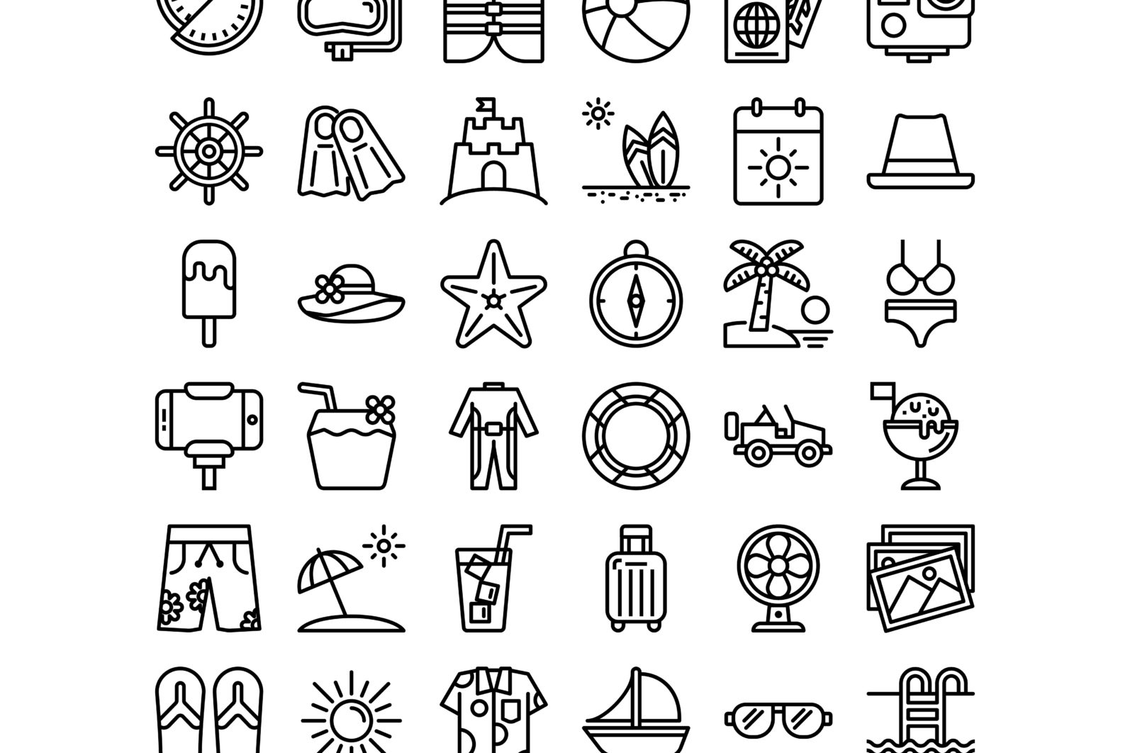 36 Summer Icons - Preview 04 1 scaled -
