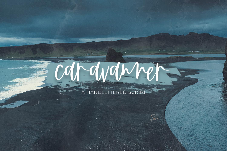 The Handlettered Font Bundle - Caravanner 1 -