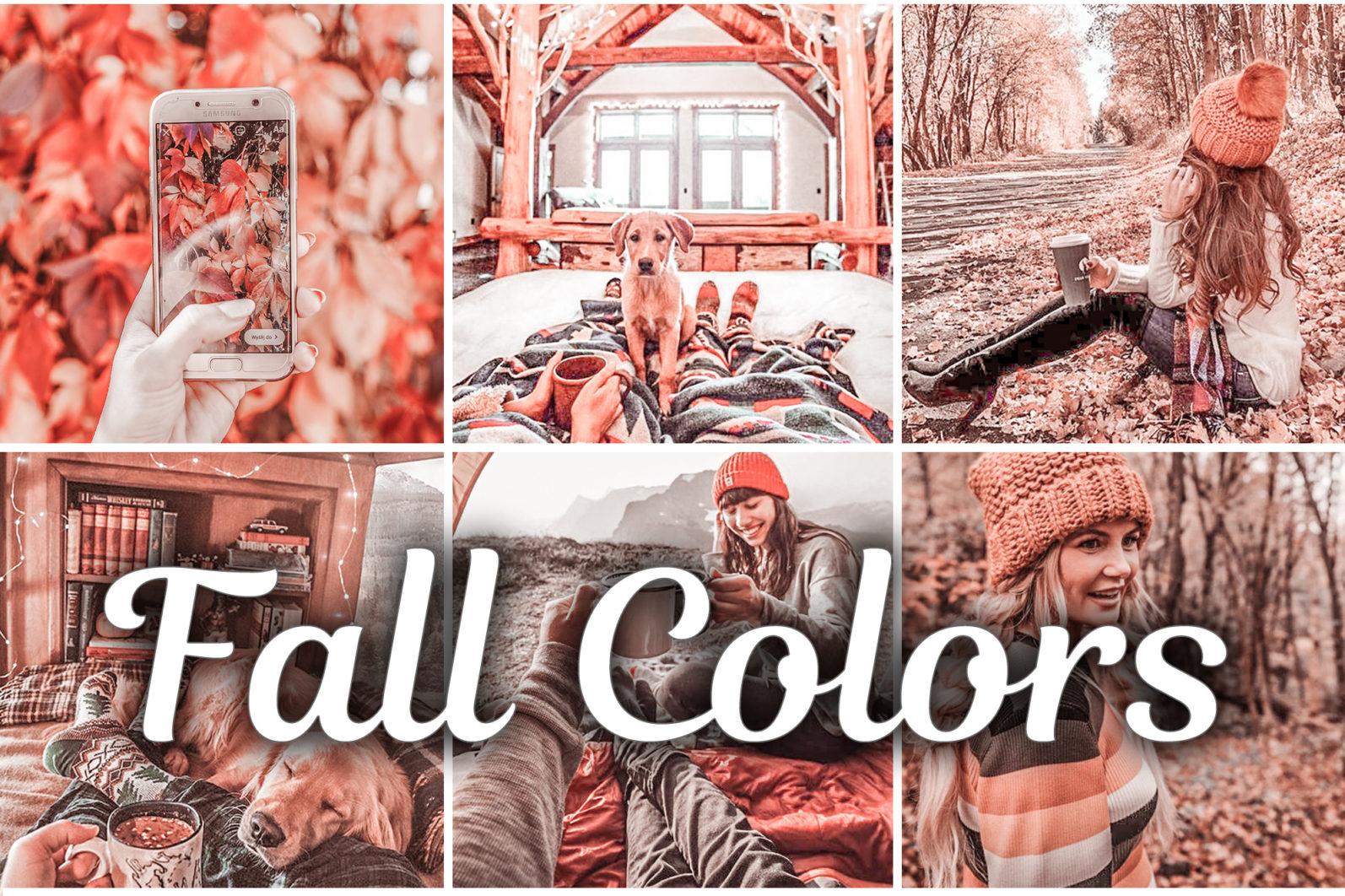 15 Mobile & Desktop Lightroom Presets FALL COLORS - Fall Colors mobile lightroom presets scaled -