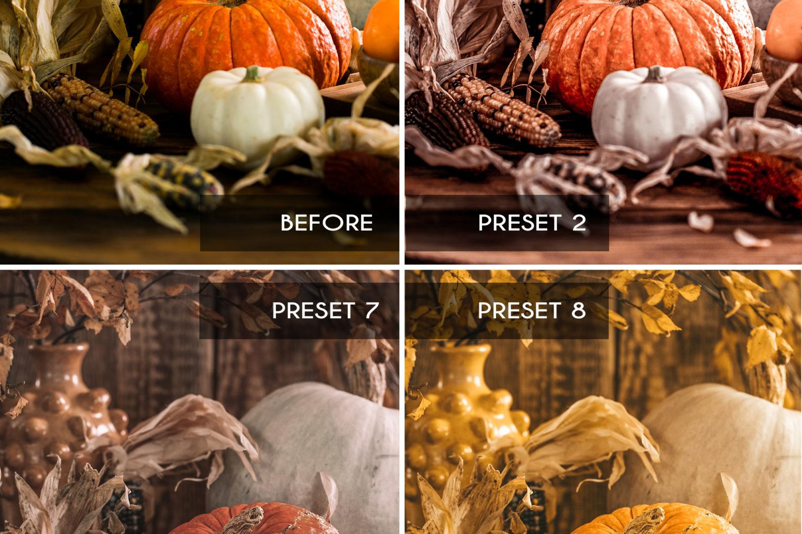 15 Mobile & Desktop Lightroom Presets FALL COLORS - Fall Colors mobile lightroom presets page4 scaled -