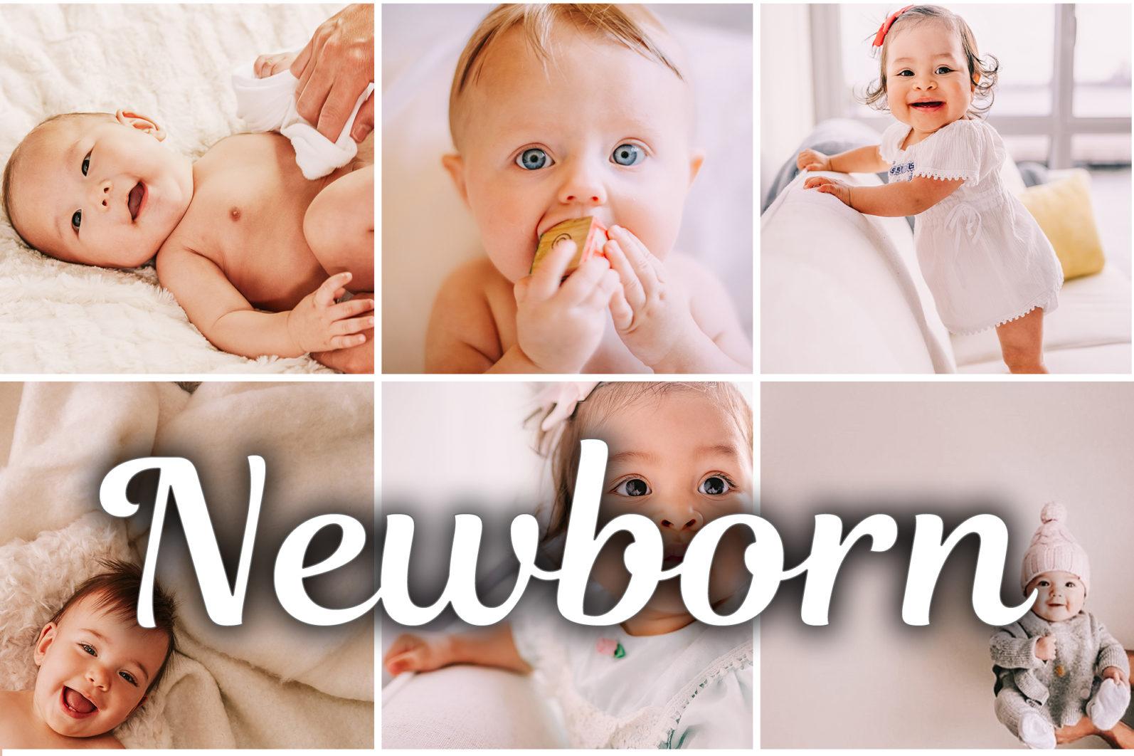 15 Mobile & Desktop Lightroom Presets NEWBORN - Newborn mobile lightroom presets scaled -