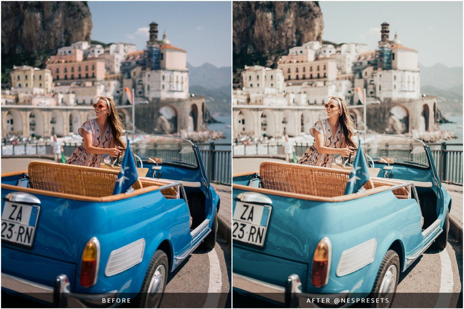 260 Lightroom Presets BUNDLE - Mobile & Desktop Presets - Retro Caramel Preset Preview 02 -