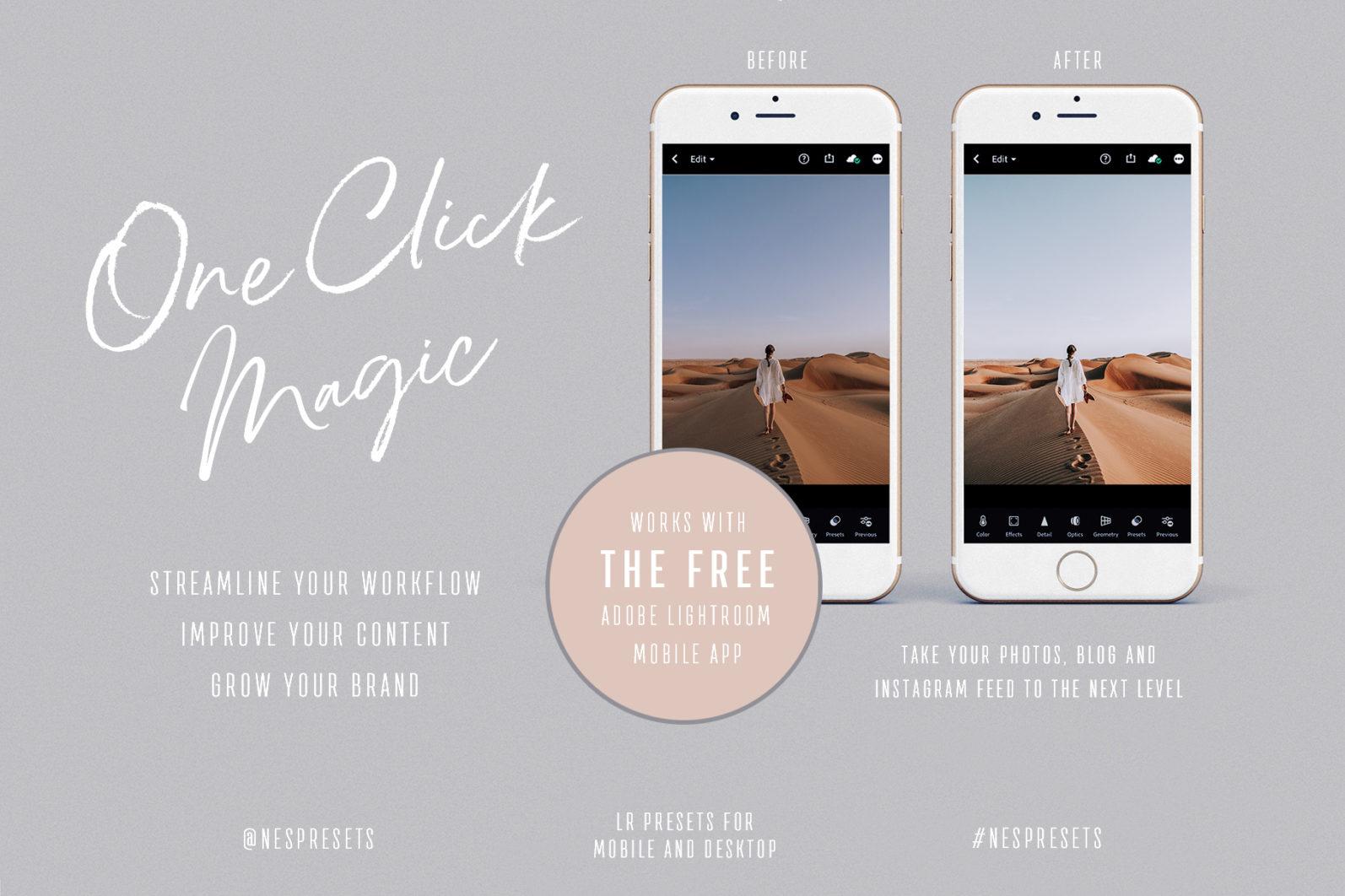 260 Lightroom Presets BUNDLE - Mobile & Desktop Presets - Peach Blues Preview 00 -