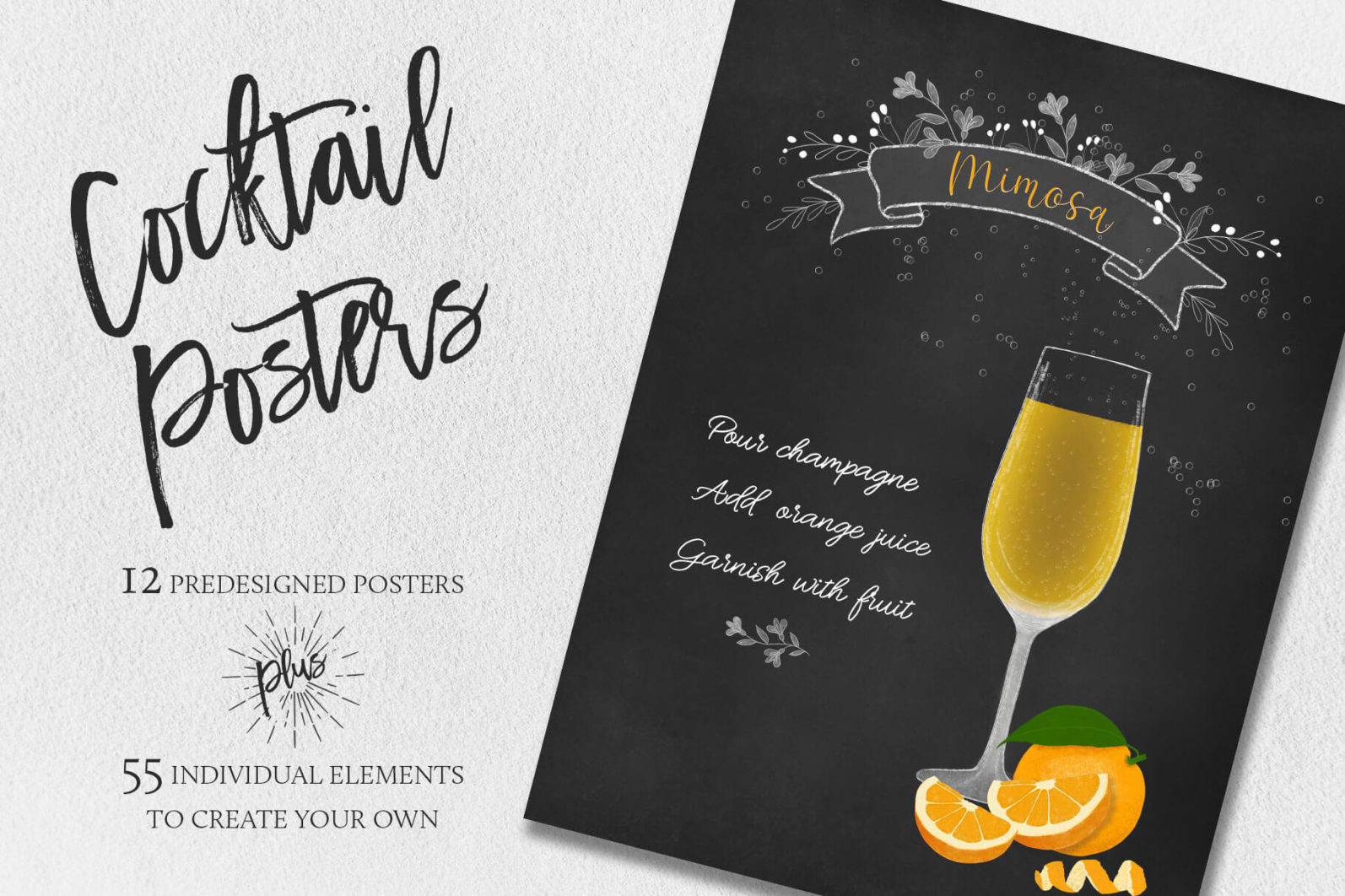Cocktail Illustrations & Posters - title page -