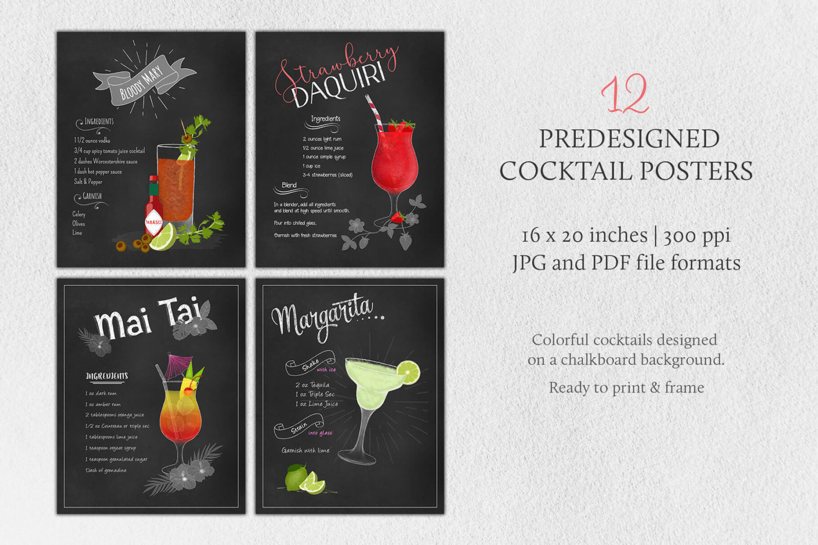 Cocktail Illustrations & Posters - page posters 1 -