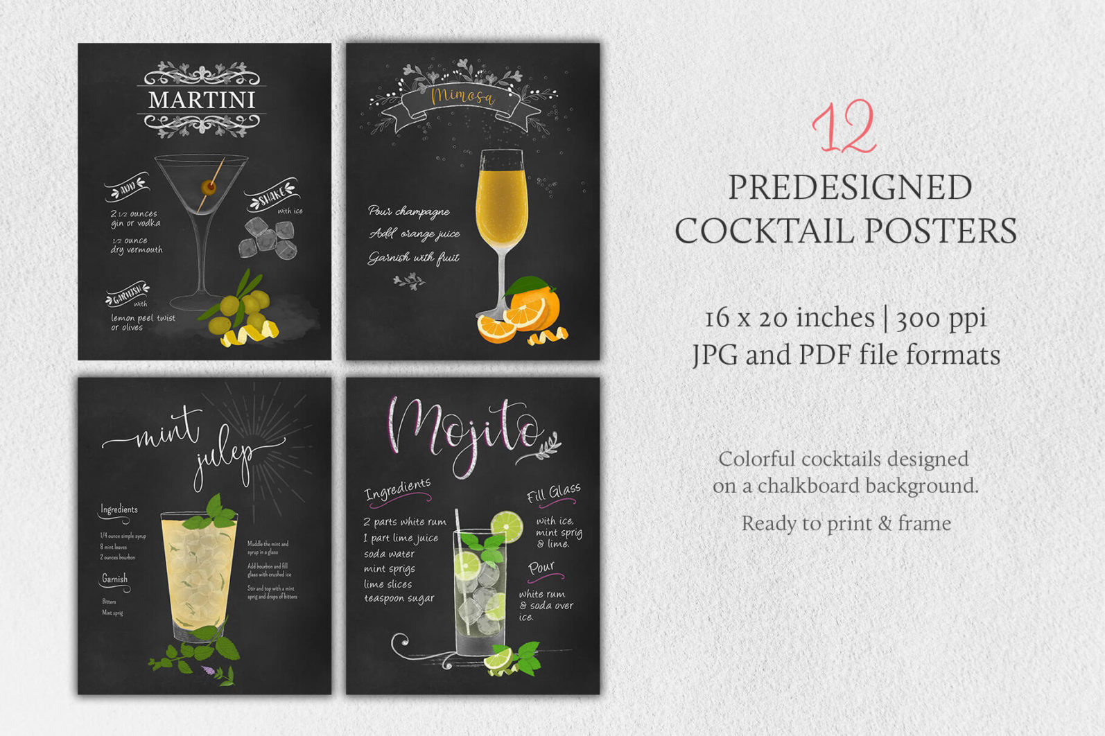 Cocktail Illustrations & Posters - page posters 2 -