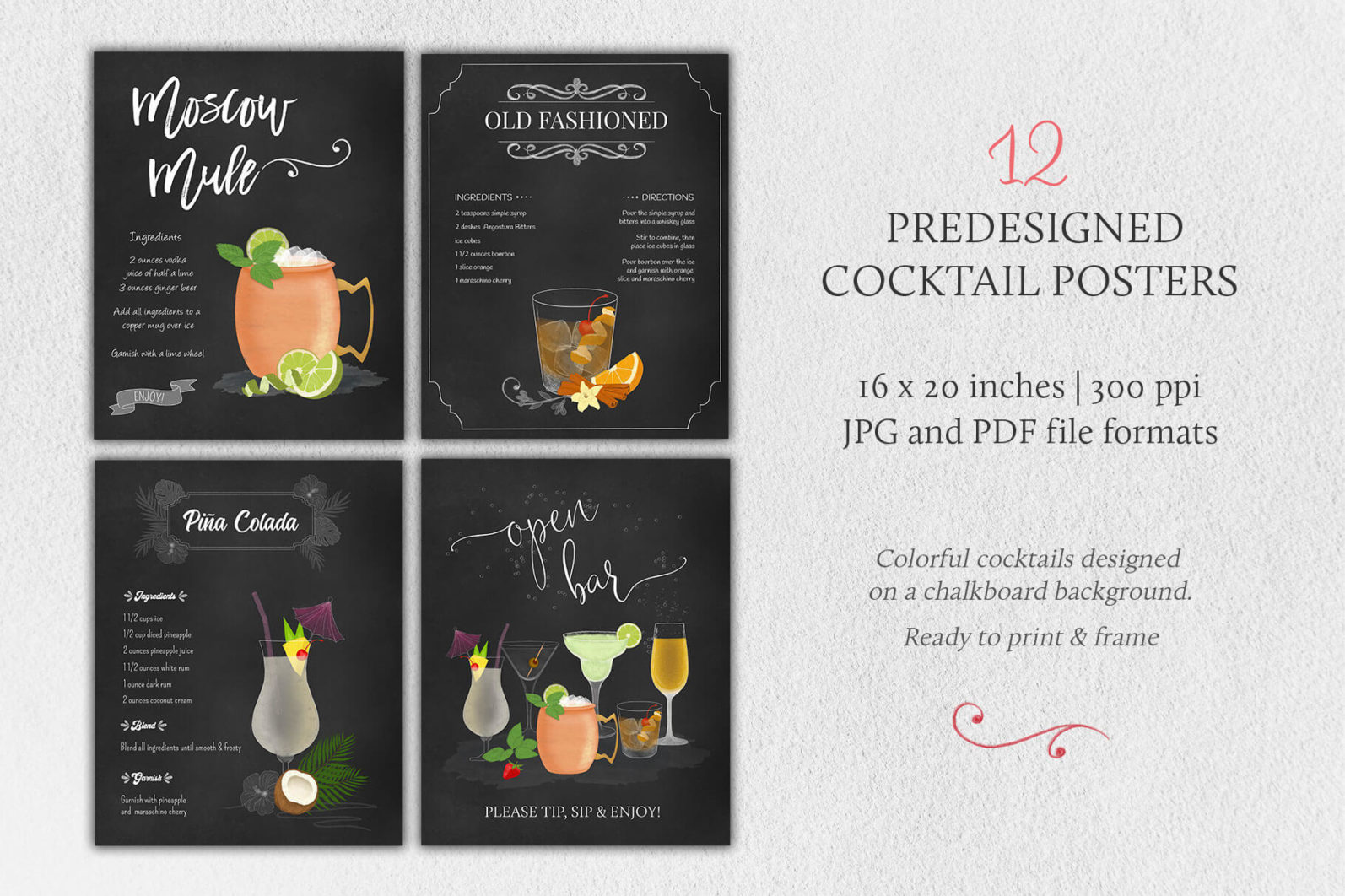 Cocktail Illustrations & Posters - page posters 3 -