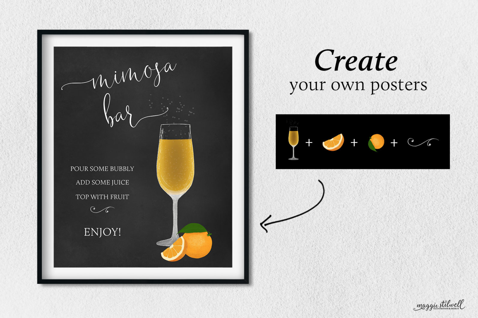 Cocktail Illustrations & Posters - page create posters -