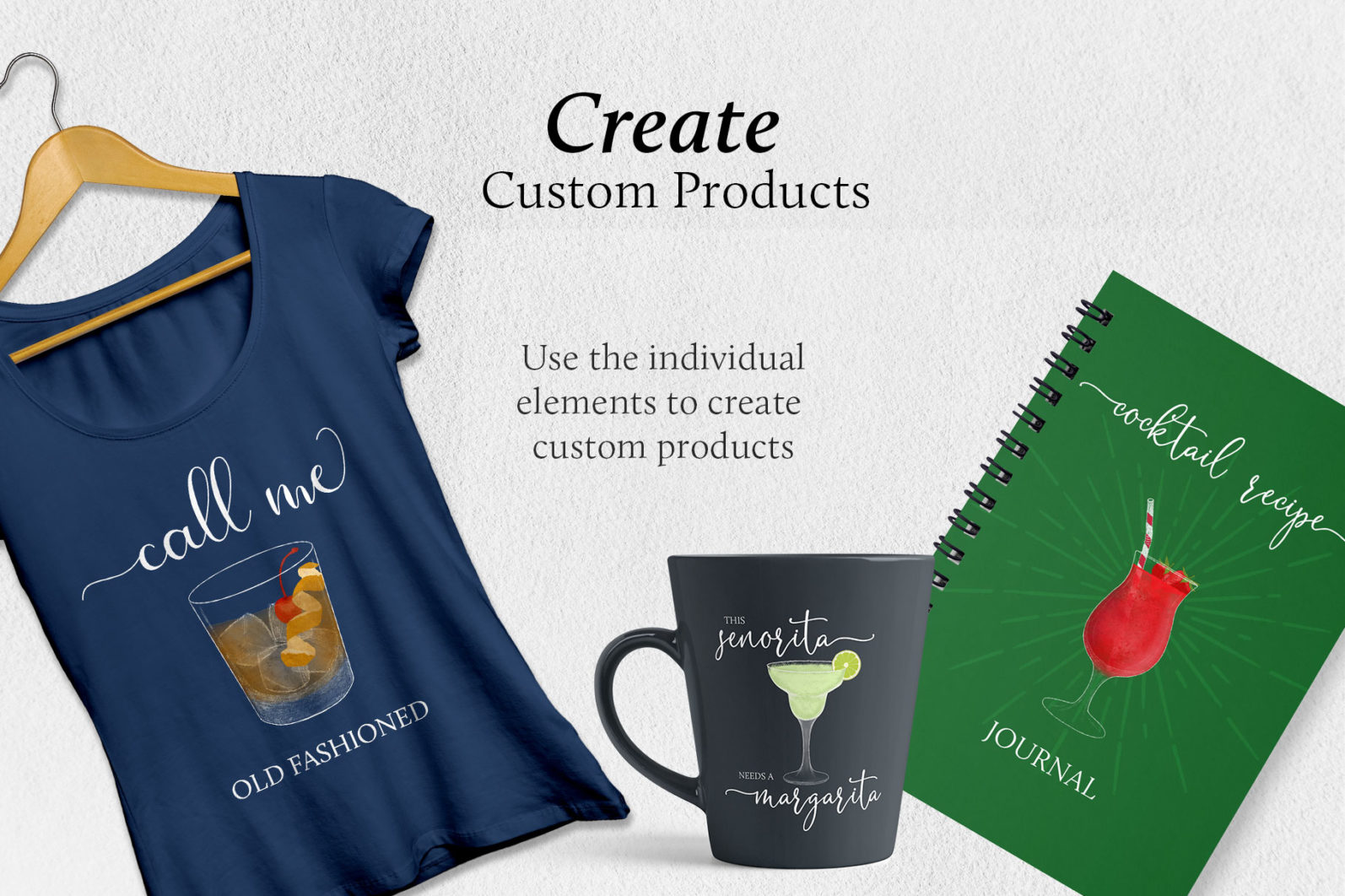 Cocktail Illustrations & Posters - page customize products -