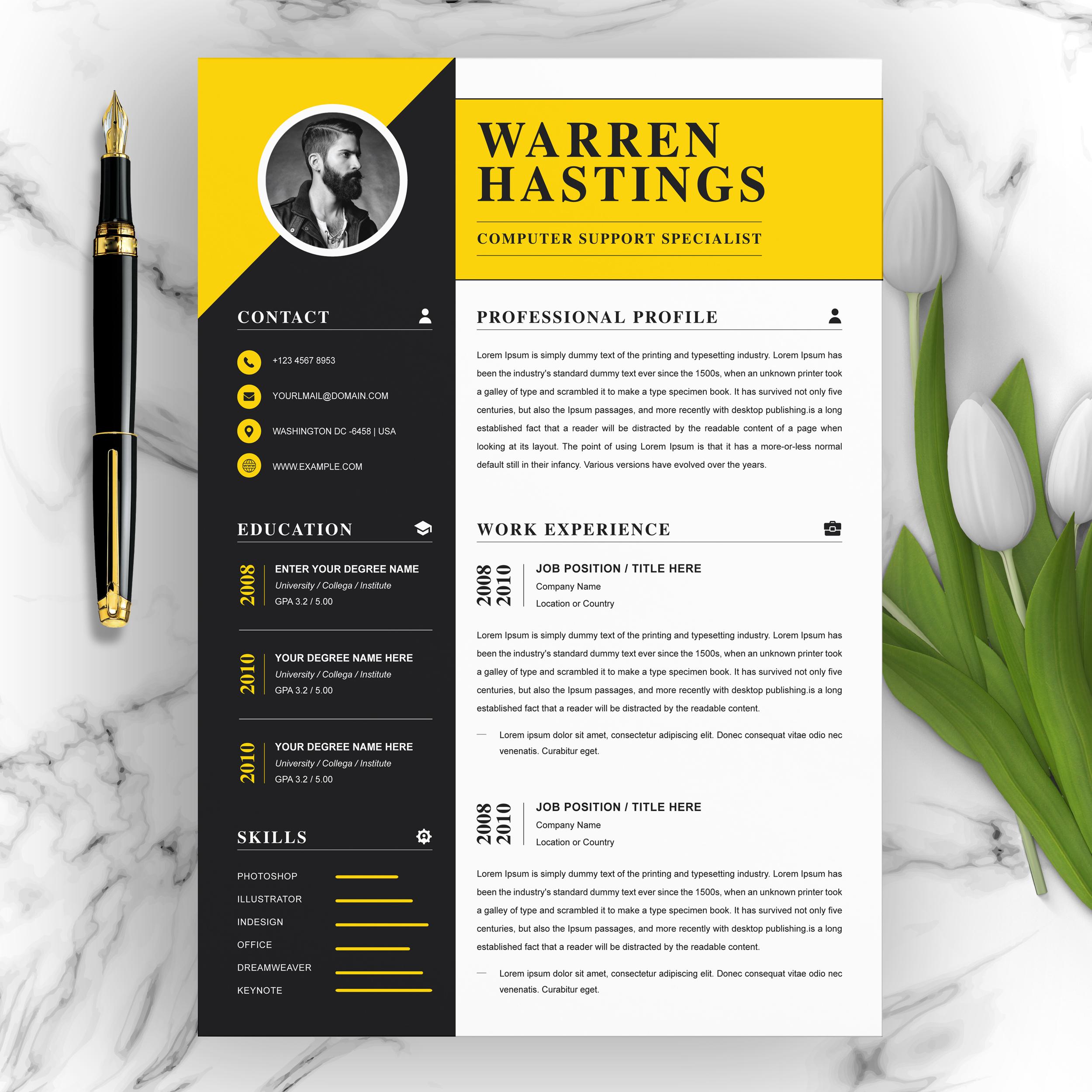creative  modern resume cv template  crella