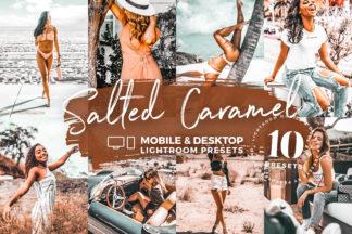 Caramel Lightroom Presets - salty caramel lightroom mobile preset crella cover new -