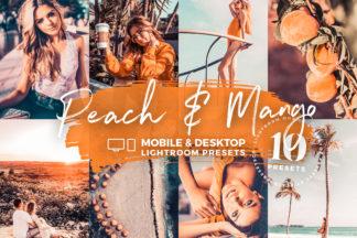 White Lightroom Presets - Peach Mango Mobile Desktop Lighroom Presets Cover Crella -