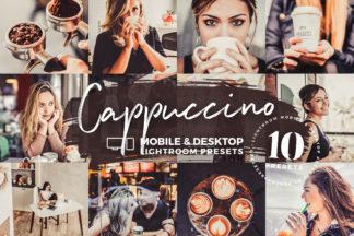 White Lightroom Presets - Cappuccino Mobile Desktop Lightroom Presets Cover Crella -