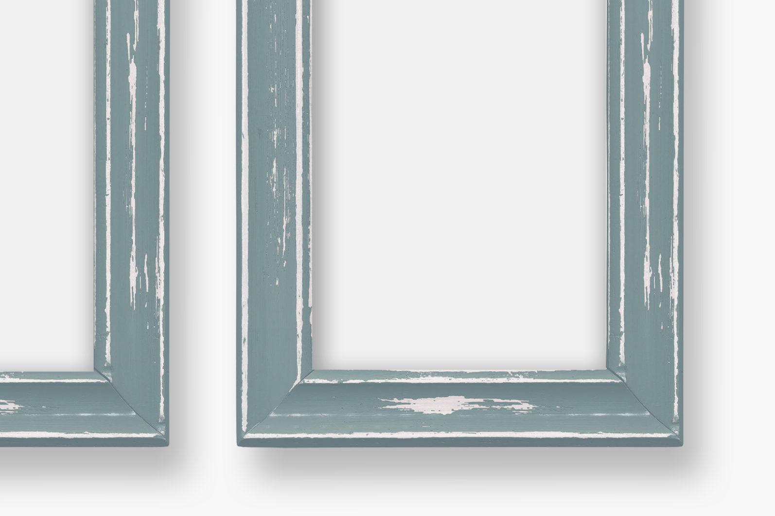 Frame Mockup, Blue Wood Portrait Photo Frame, Two Frame Mockup, PSD - Wood Series 1 Preview 5 -