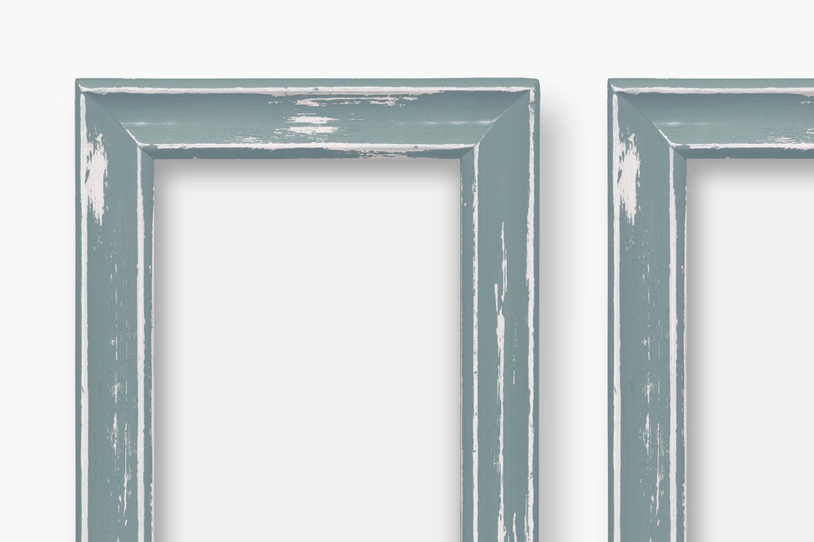 Frame Mockup, Blue Wood Portrait Photo Frame, Two Frame Mockup, PSD - Wood Series 1 Preview 6 -