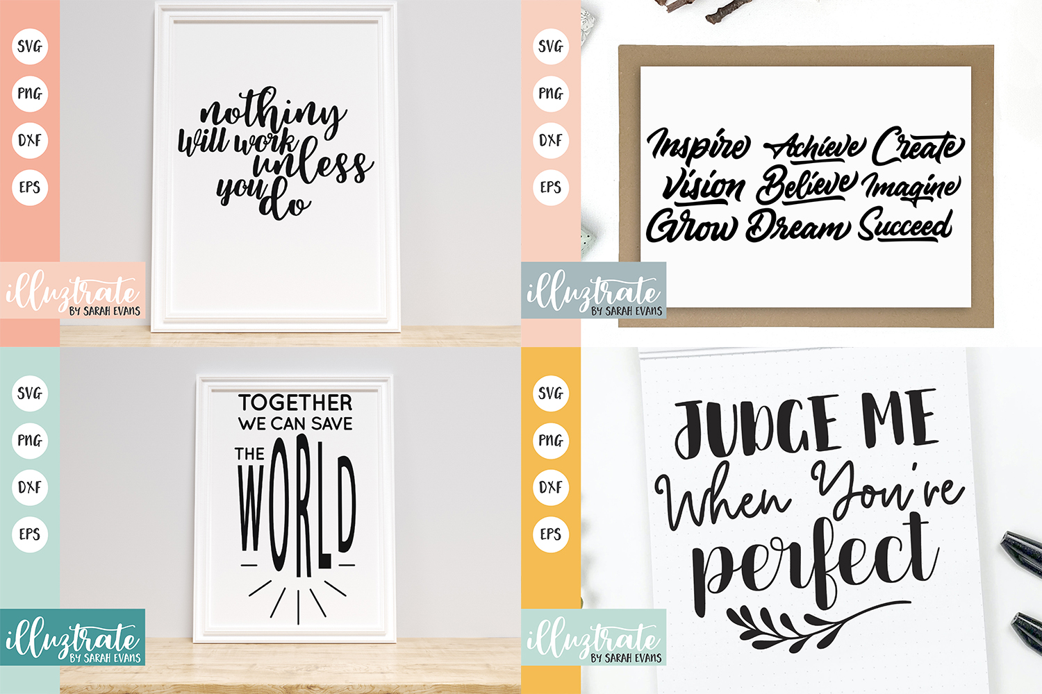 Inspirational Quote SVG Collection - Bundle 7 -