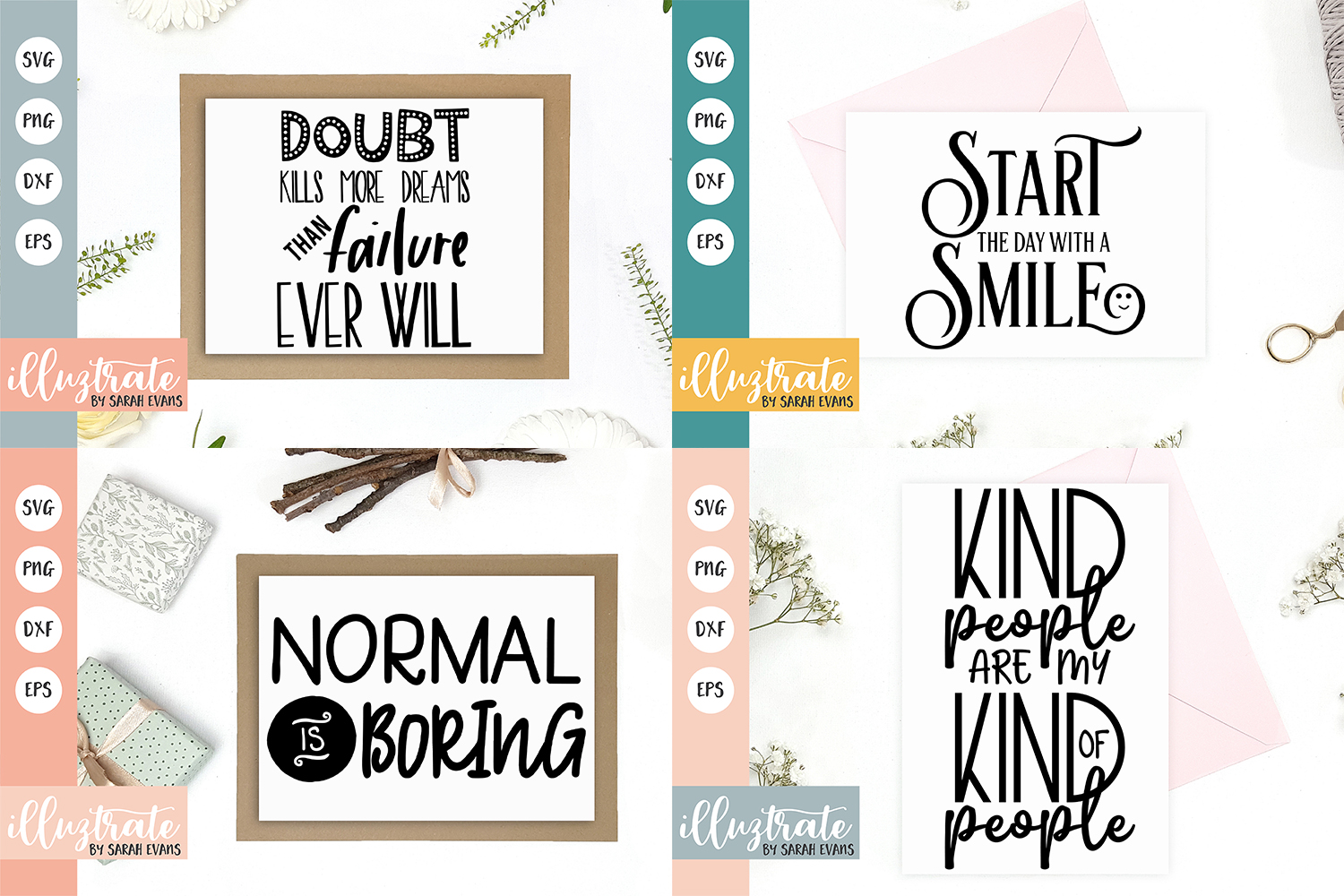 Inspirational Quote SVG Collection - Bundle 6 -