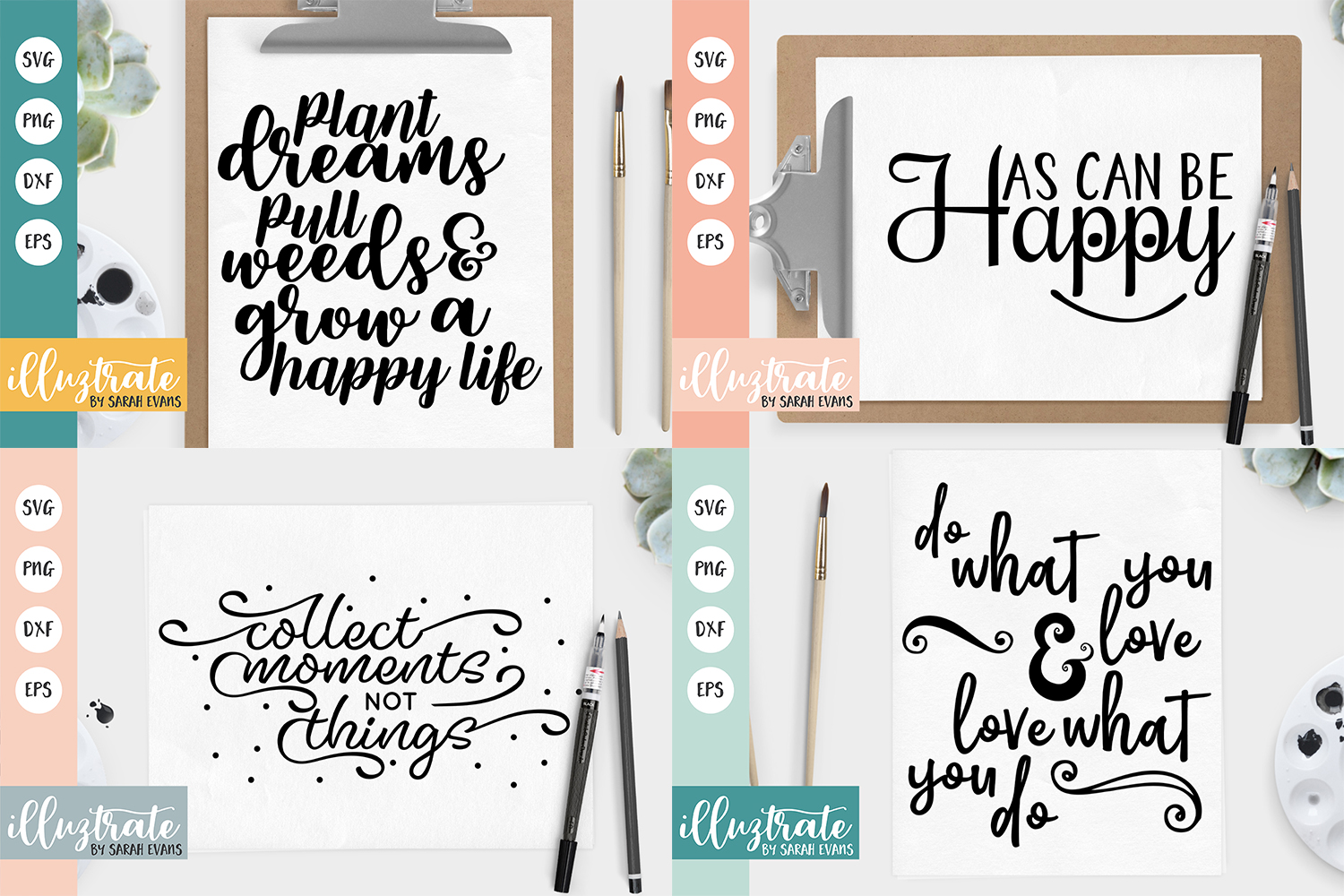 Inspirational Quote SVG Collection - Bundle 3 -