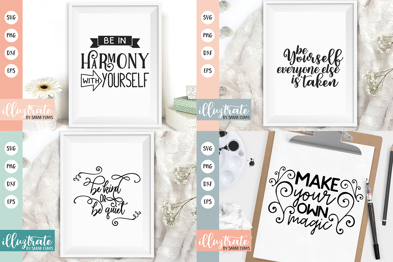 Inspirational Quote SVG Collection - Bundle 4 -