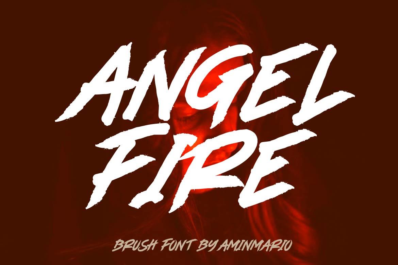 Brush Font Bundle - 45 Fonts - COVER ANGEL FIRE -