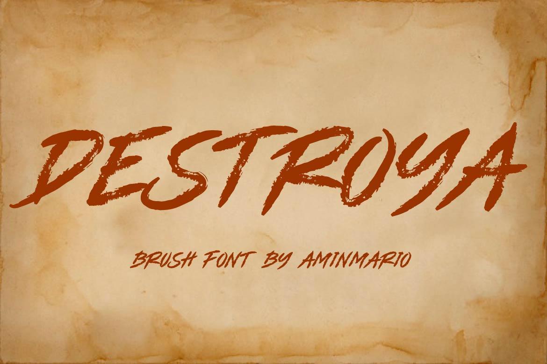 Brush Font Bundle - 45 Fonts - COVER DESTROYA -