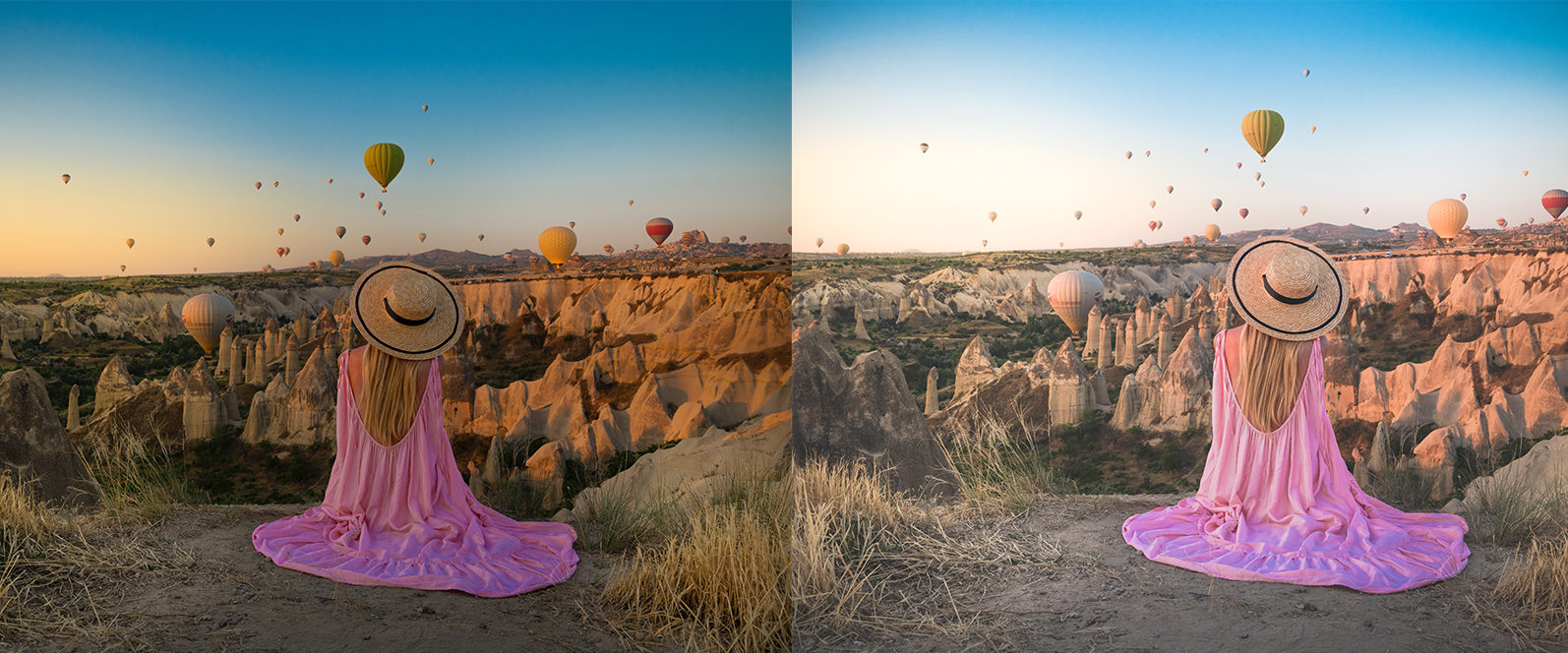 BUNDLE /// 04_Travel Collection // 64 x Desktop and Mobile Presets - 1 Hot Air Balloon1 -
