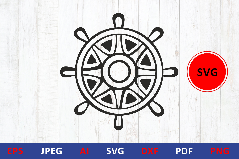 Steering Wheel Svg Icon Cut File Dxf Helm Crella