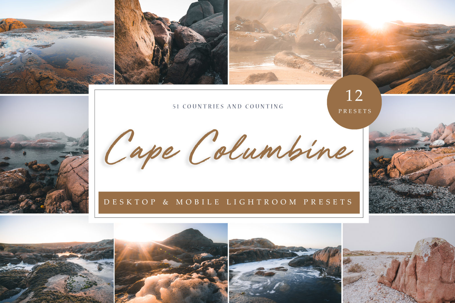 12 x Lightroom Presets, Cape Columbine, Beach and Ocean Presets, Seascape Presets - Cape Columbine LR scaled -