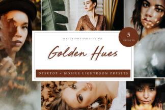 Lifestyle Lightroom Presets - Golden Hues Desktop Presets LR -