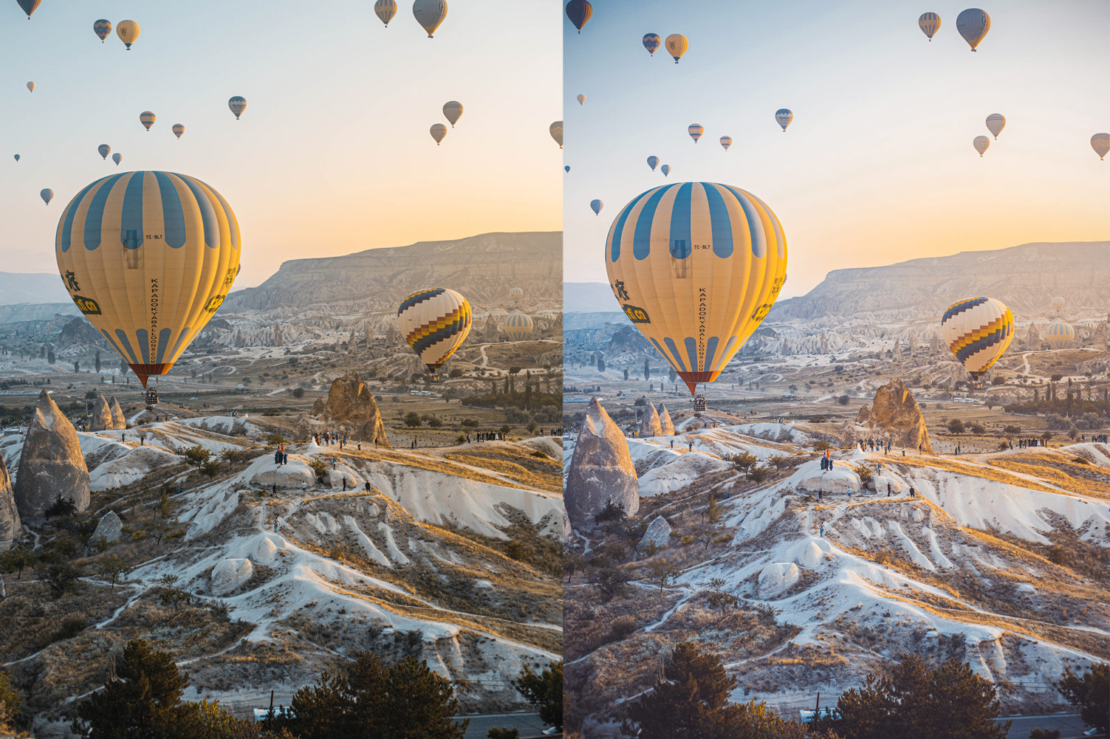 BUNDLE /// 04_Travel Collection // 64 x Desktop and Mobile Presets - 2 Hot Air Balloon1 -