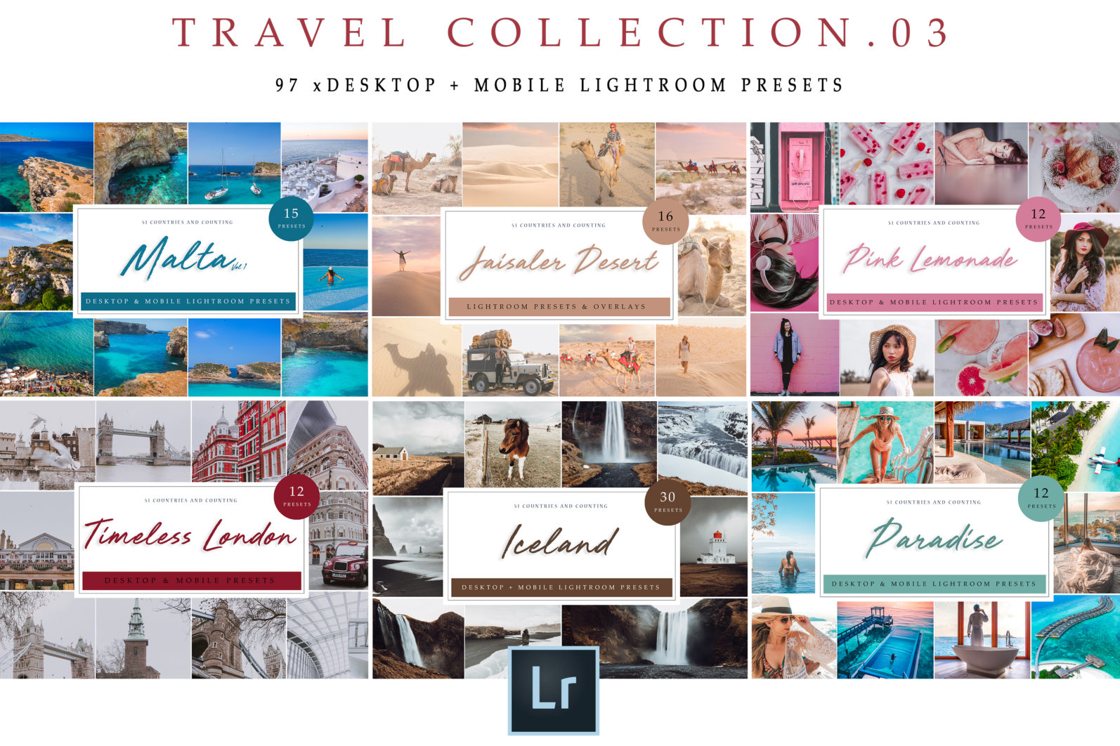 BUNDLE /// 03_Travel Collection // 97 x Desktop and Mobile Presets - Travel Collection 03 2 scaled -