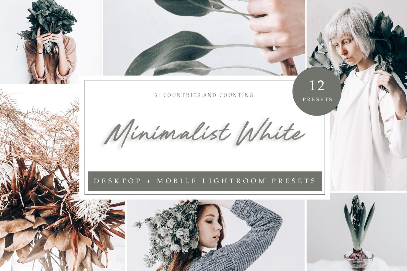 12 x Lightroom Presets | Minimalistic White | Mobile + Desktop - Minimalistic LR scaled -