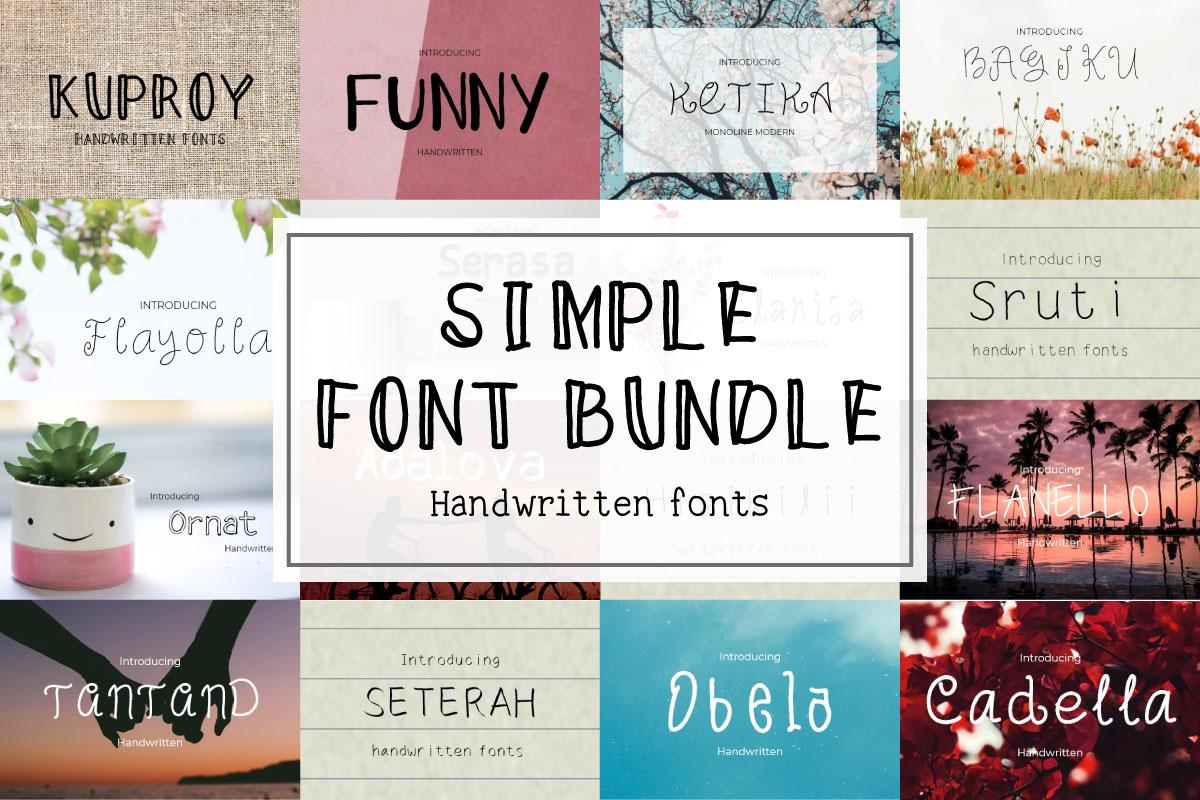 Simple Handwritten font bundle - prev bundle -