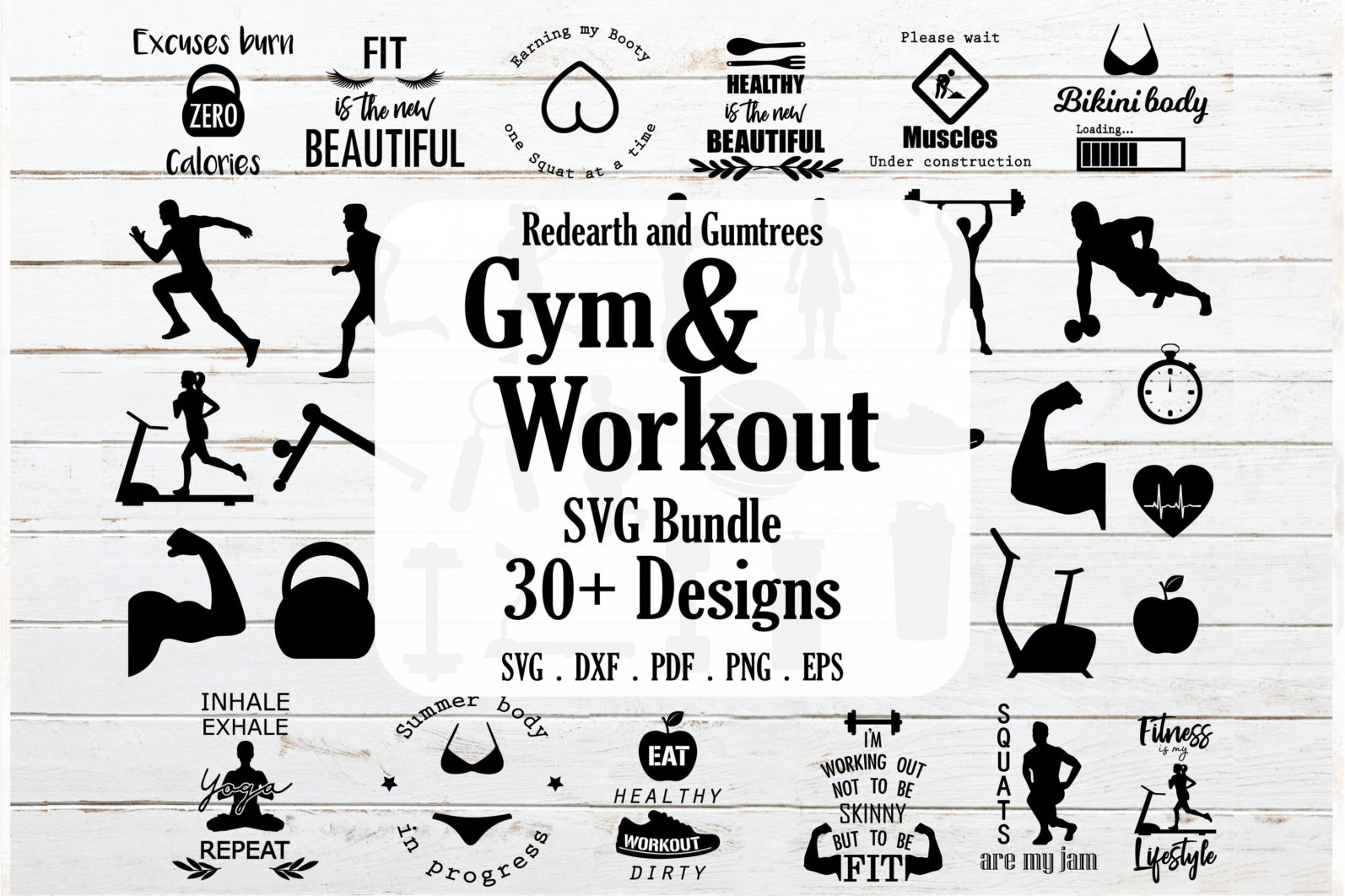 The Mega SVG Bundle Design. More than 650 Designs included in SVG,PNG,DXF,PDF,EPS formats - gym and workout bundle svg workout quotes svg gym quotes svgrunner svg weight lifting svg 3 scaled -