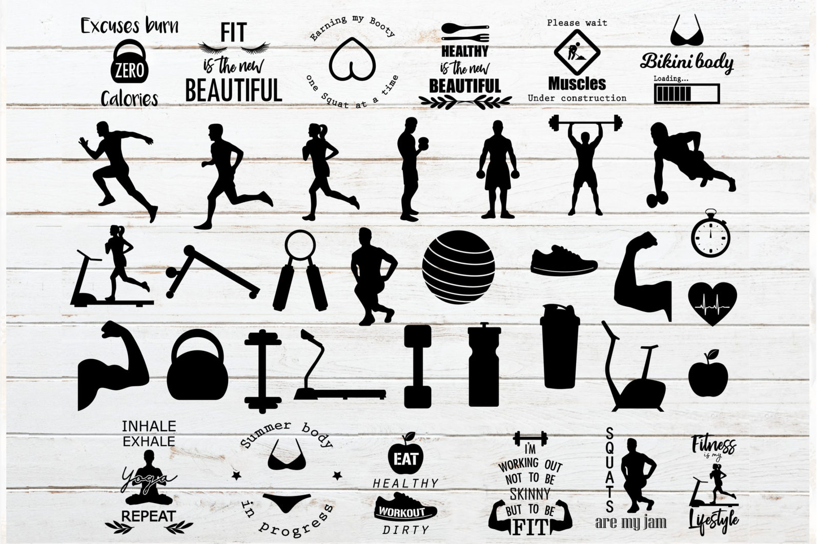 The Mega SVG Bundle Design. More than 650 Designs included in SVG,PNG,DXF,PDF,EPS formats - gym and workout bundle svg workout quotes svg gym quotes svgrunner svg weight lifting svg scaled -