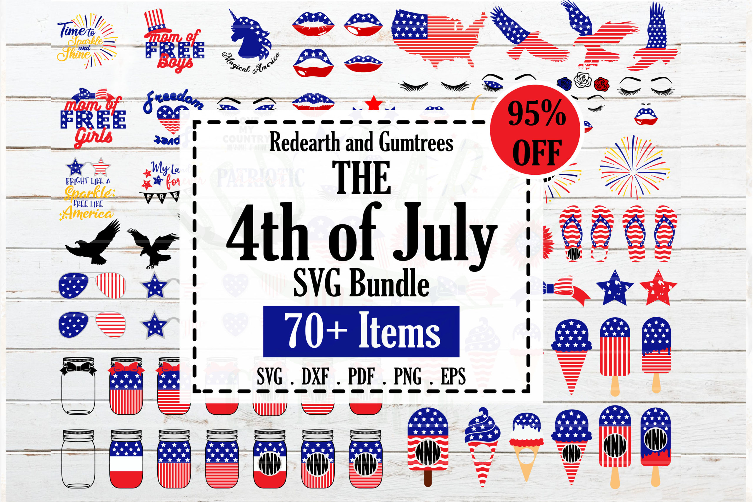Fourth Of July Bundle Svg 4th Of July Quotes Monograms Stars And Sparkles Crella