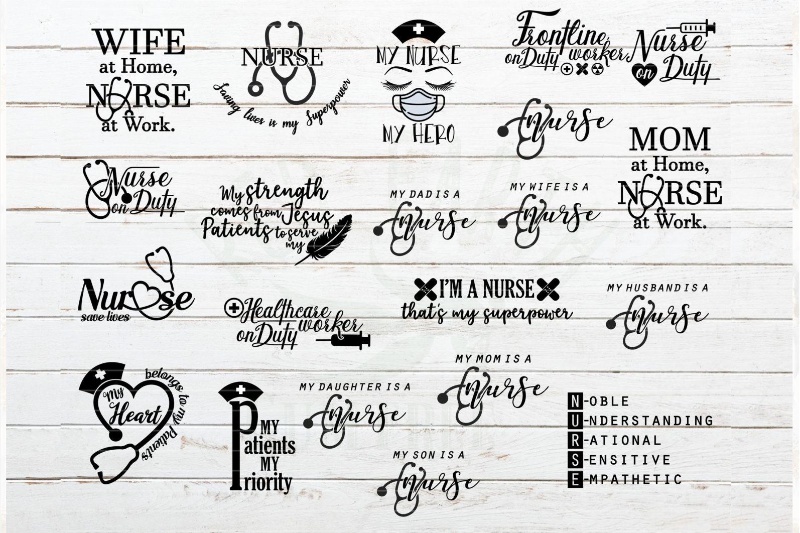The Mega SVG Bundle Design. More than 650 Designs included in SVG,PNG,DXF,PDF,EPS formats - nurse quotes svg bundle nurse sayings svg bundle nurse t shirt decal svg 2 scaled -