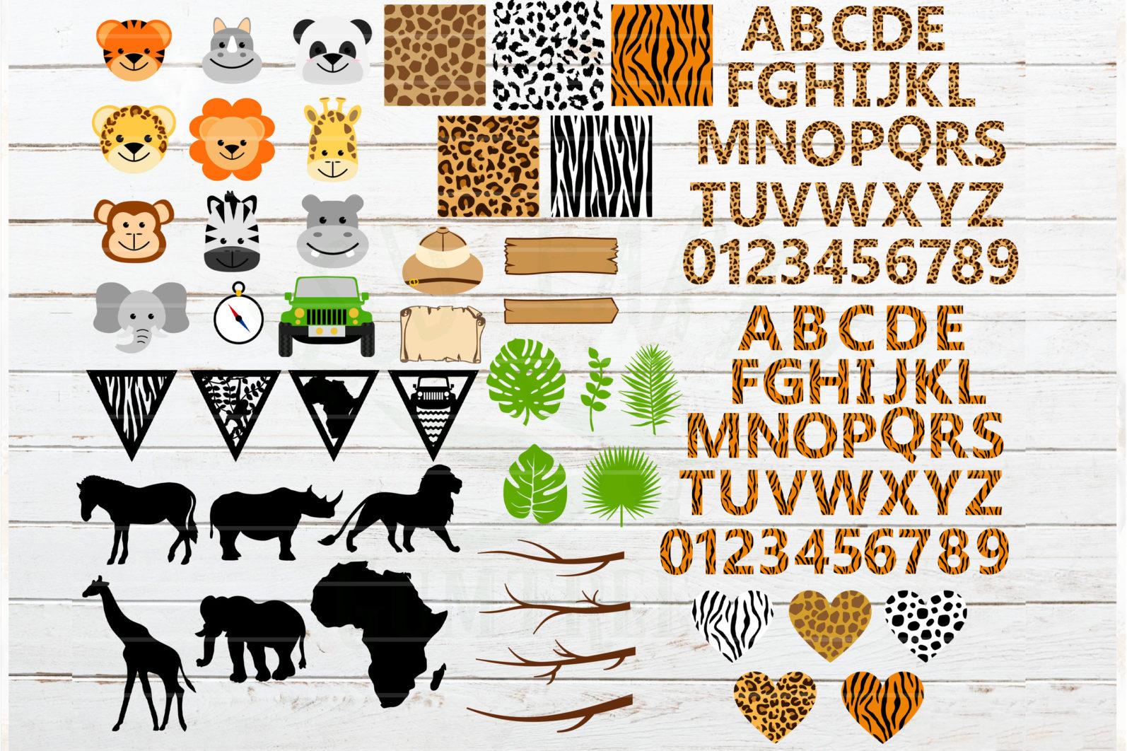 The Mega SVG Bundle Design. More than 650 Designs included in SVG,PNG,DXF,PDF,EPS formats - sarafi svg bundle cheetah pattern tiger patternleopard print letters safari animals svg 2 scaled -