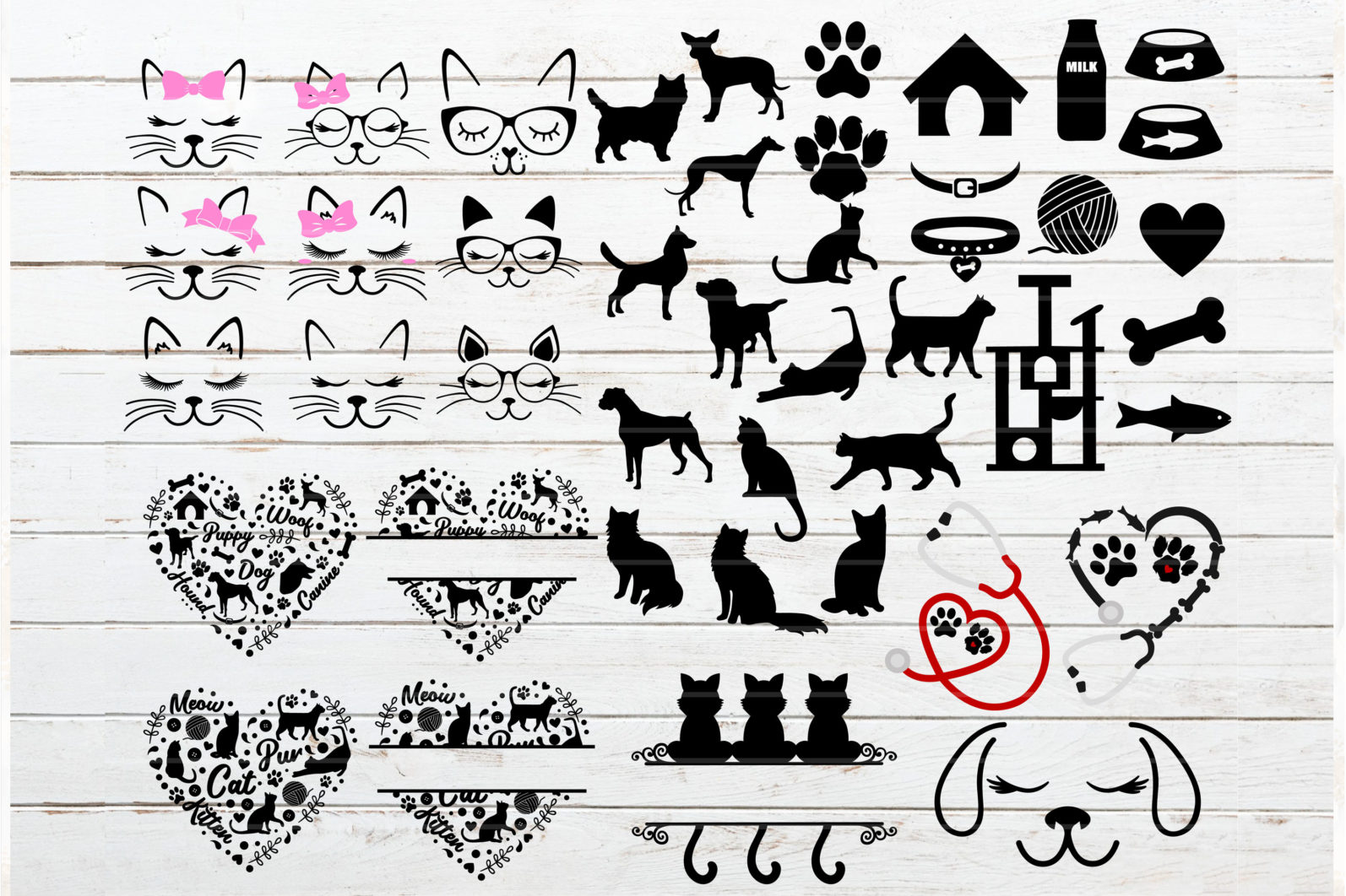 The Mega SVG Bundle Design. More than 650 Designs included in SVG,PNG,DXF,PDF,EPS formats - cats bundle svg dogs bundle svg cat monogram svg dog face lashes svg cat lashes svg bone svg cat dow paw svg 2 scaled -